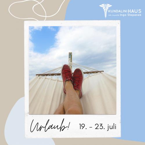 Urlaub Kundalini Sommer 2021